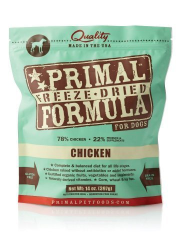 Primal Pet Food Freeze Dried Canine Chicken Formula (14 oz, 2 bags) (Primal Freeze Dried Food compare prices)