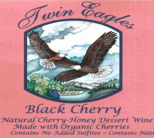 Nv Twin Eagles Black Cherry Dessert Wine 375 Ml