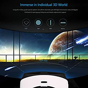 VR Glasses ,LESHP ,3D VR Headset ,Bluetooth Virtual Reality Goggles VR Box for Iphone and Android Smartphones by LESHP