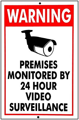 VIDEO SURVEILLANCE SECURITY SIGNS Sign burglar- robber- thief video warning