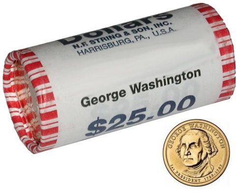 2007 Presidential Dollar - George Washington Uncirculated Roll of 25 Coins