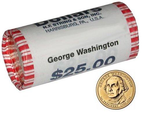2007 Presidential Dollar George Washington Uncirculated Mint Roll