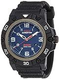 [タイメックス]TIMEX エクスペディションフィールドショック46mm ブルーダイアル ブラックケース ブラックスラバートラップ【TW4B01100】 TW4B01100 メンズ 【正規輸入品】