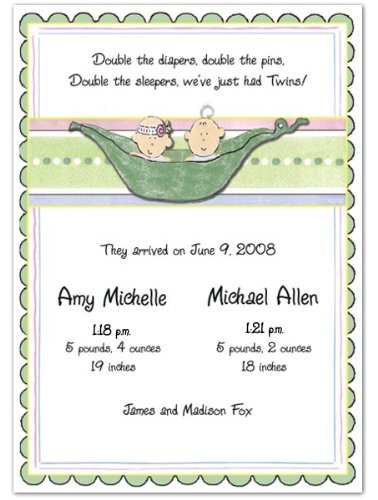 Baby Girl Photo Birth Announcements front-592046