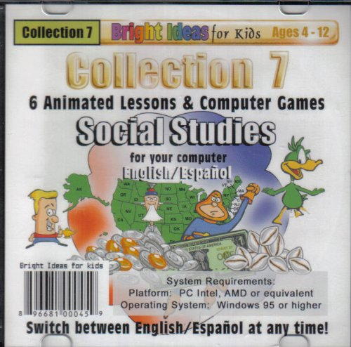 Collection 7 (6) Animated Lessons & Computer Games Social Studies (ages 4-12) - 1