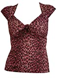Switchblade Stiletto GREY LEOPARD DAME TIE TOP- Small