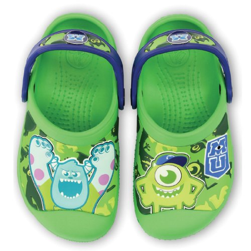Crocs 14805 Cc Monsters Clog (Toddler/Little Kid),Neon Green/Cerulean Blue,10 M Us Toddler front-1057899