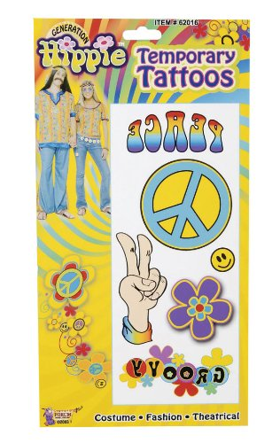 Hippie Tattoo's - complete the Hippie look with these great temporary