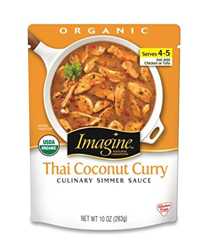 Imagine Culinary Simmer Sauce, Thai Coconut Curry, 10 Ounce (Pack of 6) (Coconut Curry Simmer Sauce compare prices)