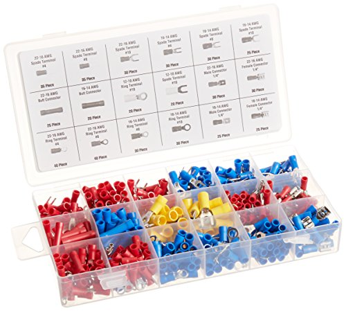 520 Piece Electrical Terminal Assortment with Storage Box (Wire Terminal Kit compare prices)