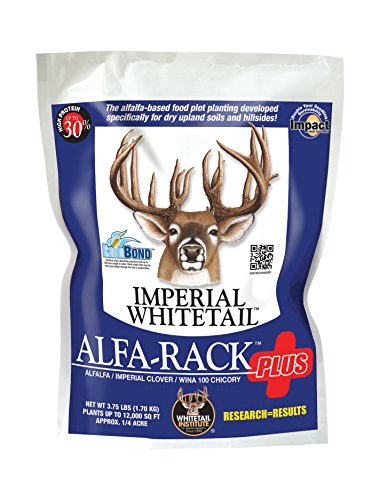 Whitetail Institute Imperial Alfa-Rack Plus Food Plot Seed (Spring and Fall Planting), 3.75-Pound (.25 acres) (Imperial Food Plot Seed compare prices)
