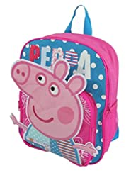 1 X Children Peppa Pig Backpacks Kids Cartoon School Bag Bookbag