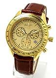 スイス ムーブ搭載 【Alain Divert Paris】天然ダイヤモンド メンズ 腕時計 クロノグラフ イタリア革ベルト フランス生まれのブランド 全5色