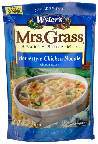Wyler's Mrs. Grass Homestyle Chicken Noodles Hearty Soup Mix, 5.93-Ounce Packages (Pack of 8)