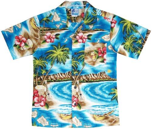 65ac1aaabf4 RJC Boys Hibiscus Hawaiian Island Shirt - Import It All