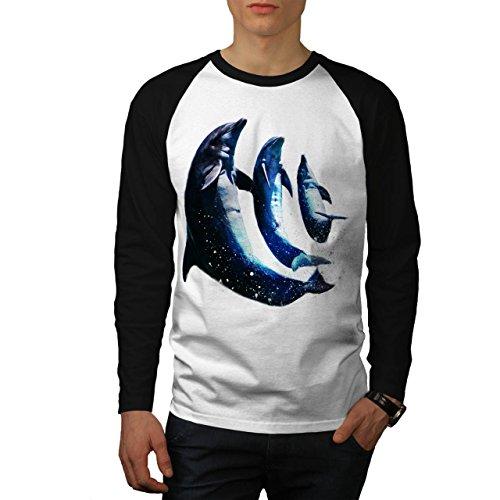 delfino-spruzzo-danza-blu-saltare-uomo-nuovo-bianca-maniche-nere-s-baseball-manica-lunga-maglietta-w