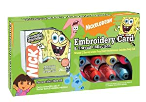 Brother SANPKG1 SpongeBob SquarePants 25-Design Embroidery Memory Card and Thread Collection