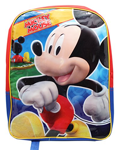 Full Size Red and Blue Mickey Mouse Kids Backpack by Disney - 1