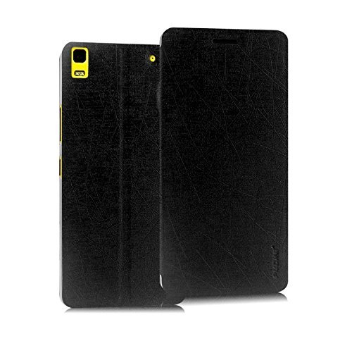 Febelo Pudini New Design Perfect Fitting Video Stand View Flip Case Cover for Lenovo A7000 / K3 Note - Black Color  available at amazon for Rs.149