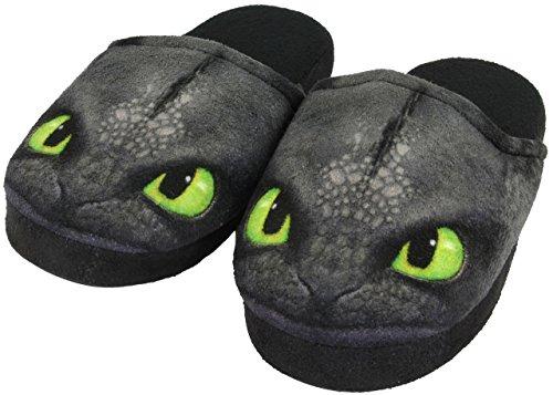 Dreamworks-Dragons-Nios-Zapatillas-sin-dientes-Toothless-Negro