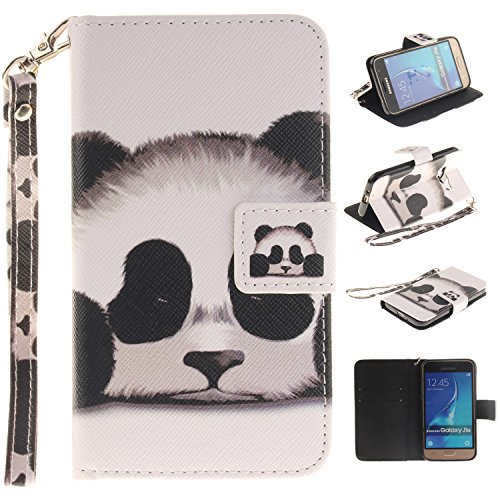 Cozy Hut Portefeuille Housse Coque à rabat pour Galaxy J1 (2016), Galaxy J1 (2016) Bookstyle Coque Wallet Cuir Folio Housse, Galaxy J1 (2016) Leather