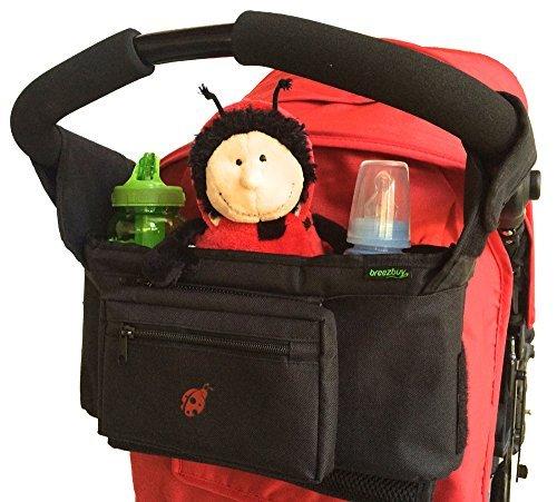 1-Wert-Buggy-und-Kinderwagentasche-Fr-die-meisten-Kinder-und-Sportwagen-Ideal-fr-den-Transport-von-Babyartikeln-und-Windeln-XL-Getrnkehalter