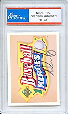 Nolan Ryan Autographed Houston Astros Encapsulated Trading Card - Certified Authentic