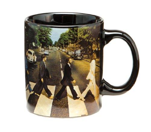 Vandor 64266 The Beates Abbey Road 12 Oz Ceramic Mug, Black And White