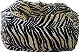 Gold Medal 30008465932 Small Suede Bean Bag for Children, Bengali Tiger Print