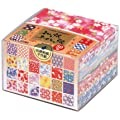 Origami Paper - Patterned Washi paper gift set (Washi Chiyogami) - 30 assorted patterns - 12 sheets of each pattern - White reverse - 360 sheets in total - 7.5cm x 7.5cm