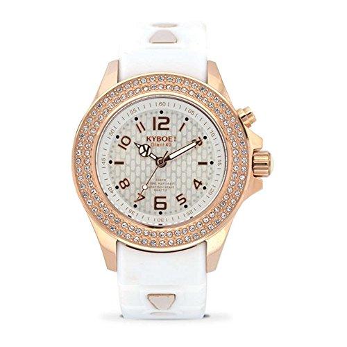 Kyboe. Reloj Analógico para Mujer Quartz goma blanco SW de 003-40