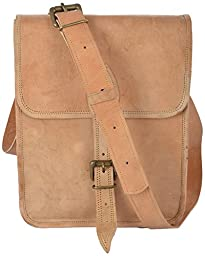 CK International Leather Messenger Bag College Bag Ipad Bag Large (L) Brown