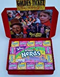 Willy Wonka Charlie & The Chocolate Factory Golden Ticket Wonka Bar Nerds American Sweets Candy WM (FROM CANDYPLANET)
