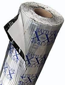 FatMat 25 Sq Ft x 80 mil Thick Self-Adhesive RattleTrap Sound Deadener Bulk Pack w/Install Kit