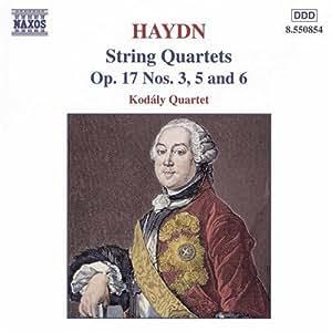 Haydn : Quatuors à cordes Op.17, n° 3, 5 et 6