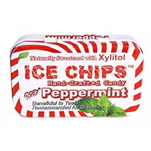 Hand Crafted Candy Tin Peppermint Ice Chips Candy 1.76 oz Candy