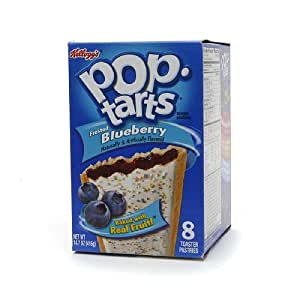 Amazon.com: Pop Tarts Toaster Pastries, Frosted Blueberry 8 ea (Pack ...