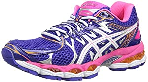 ASICS Gel-Nimbus 16, Chaussures Multisport Outdoor Femmes - Bleu (Carbon/Lime/Black 7405), 42 EU