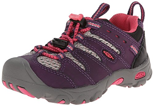 KEEN Koven Low Hiking Shoe (Toddler/Little Kid), Blackberry/Honeysuckle, 12 M US Little Kid (Kids Hiking Shoes compare prices)