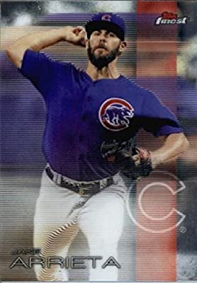 2016 Finest #6 Jake Arrieta Chicago Cubs Baseball Card in Protective Screwdown Display Case
