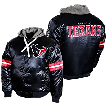 MTC Marketing Mens Houston Texans NFL Prime Satin Hooded Jacket by MTC Marketing