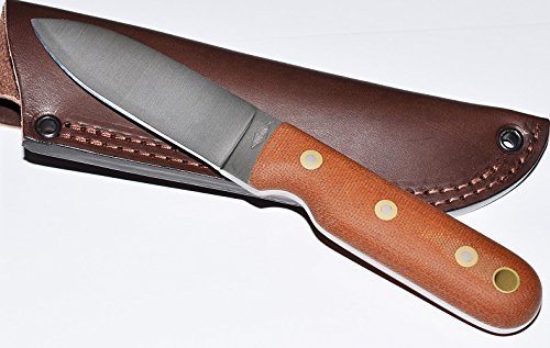 Battle Horse Knives Bushcrafters Nat Canvas Micarta, Flat Grind