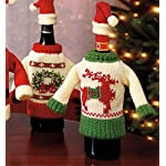 Wine Bottle Cover, Christmas Wine Decoration, Wine Bottle Dress, Holiday Clothing Wine Bottle Cover, SNOWMAN Wine Gift Tag – Set of 2