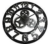 アンティーク 掛け時計 クロック レトロ 欧風 インテリア ヴィンテージ 壁掛け 歯車 大きい
