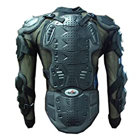 WOW MOTORCYCLE MOTOCROSS BIKE GUARD PROTECTOR BODY ARMOR BLACK
