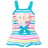 Disney Toddler Frozen Girls Striped Romper, 2t-4t