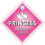 Princess On Board Princess On Board Personalised Car Sign Silver Text Custom Baby on Board Sign Well Add Whatever Name Youd Like To Create Your Own Custom Princess on Board Sign Baby on Board Princess Car Sign Baby Sign Baby Car Sign Custom Baby on Board