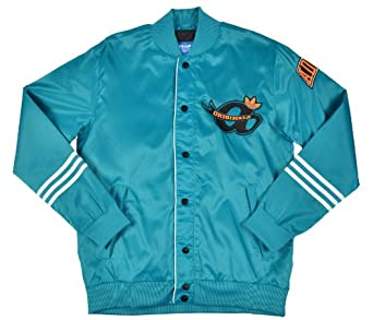 Adidas Originals Mens Satin Varsity Jacket Coat-Blue-2XL by adidas Originals