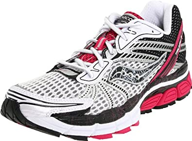 Saucony Women's Progrid Triumph 8 Running Shoe,White/Black/Pink,6 M US