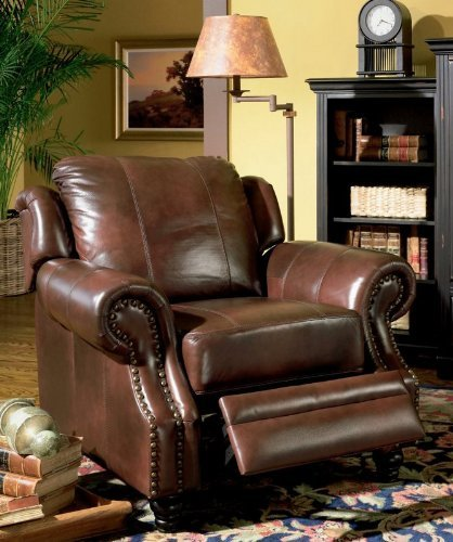 Nailhead Trim Reclining Sofa